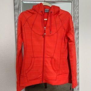 NWOT Athleta orange hoodie jacket size M